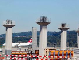 Baustelle zur neuen Gepäcksortieranlage am Flughafen Zürich