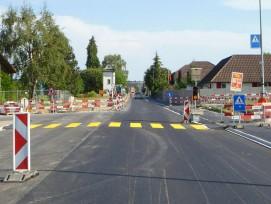 Strassenbaustelle in Schafisheim