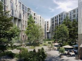 Visualisierung Studentenwohnungen auf dem Nidfeld-Areal in Kriens