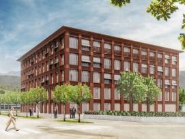 Visualisierung Hauptsitz Obwaldner Kantonalbank in Sarnen