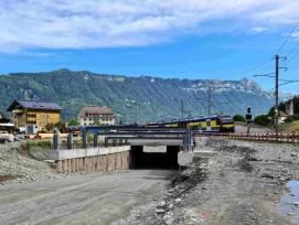 Umfahrung Wilderswil Unterquerung der BOB-Bahnlinie