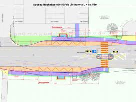 Grafik Ausbau Bushaltestelle Näfels Lintharena