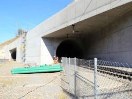Installationsplatz bei Portal Raron des Lötschberg-Basistunnels