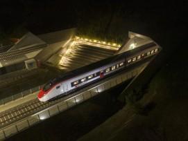 Testfahrt durch den Ceneri-Basistunnel mit einem Giruno-Zug