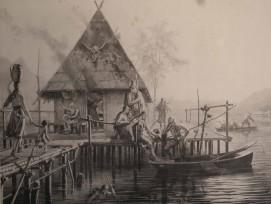 Gemälde Pfahlbauer des Historienmalers Karl Jauslin