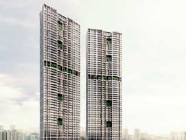 "Wolkenkratzer ""Avenue South Residences"" in Singapur"