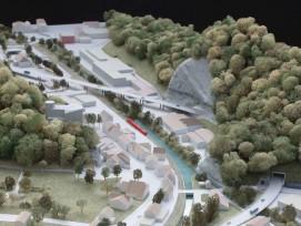 Modell der Entlastungsstrasse Klus im Balsthal