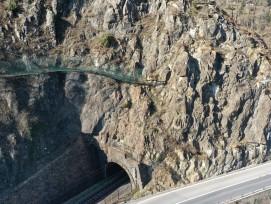 Fels bei Graggerhofstatt im Kanton Uri