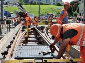 Ausbauarbeiten beim Bahnhof Teufen AR