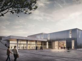 Visualisierung neuer Multifunktionspavillon beim Campus Sursee