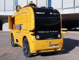 Selbstfahrender Lieferwagen auf dem EPFL-Campus