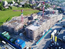 Aufrichte der Wohnüberbauung «Gloggeguet» im Quartier Herblingen