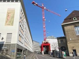Baustelle Neubau AUE in Basel-Stadt