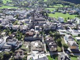 Drohnenaufnahme der Ausgrabung in Brig-Glis