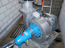 Abwasserpumpe als Francis-Turbine
