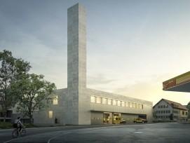 Visualisierung neues Rettungsdienst-Gebäude beim Spital Uster