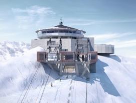 Visualisierung neue Station auf dem Schilthorn