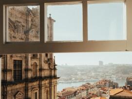 Blick aus einem Fenster.