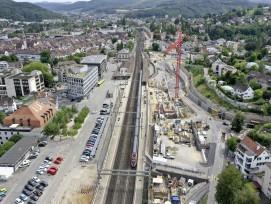 Liestal Vierspurausbau Bahnhof SBB