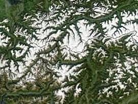 Alpen aus dem Orbit