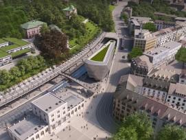 Visualisierung Neubau von Santiago Calatrava Stadelhofen