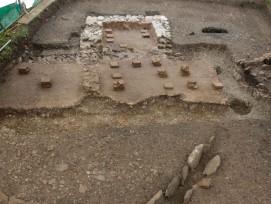 Reste eines römischen Gebäudes mit Bodenheizung