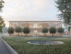 Visualisierung neue Sporthalle Schadauquartier Thun