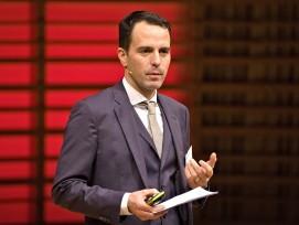 Matthias Forster an einer Infra-Tagung