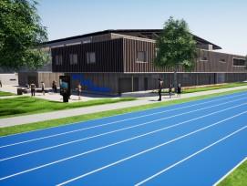 Visualisierung Solarfassade winter sports world