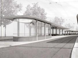 Visualisierung «EGENDER» Tramhaltestelle Bahnhofquai Zürich 3