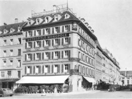 Historische Aufnahme des Hotels Metropole in Bern