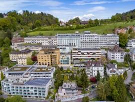 Luftaufnahme Hirslanden Klinik St. Anna in Luzern