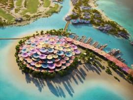 Visualisierung Hotel auf der Shurayrah Insel