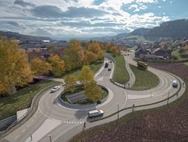 Visualisierung Umfahrung Oberburg Kreisel