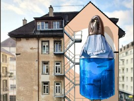Street-Art-Wandbild Entwurf von Nevercrew