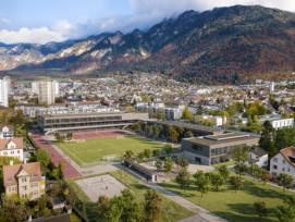 Visualisierung neue Sport- und Schulanlage Ringstrasse in Chur