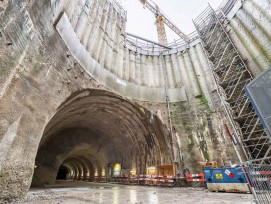 Baustelle Unterführung Mitte Bahnhof Bern