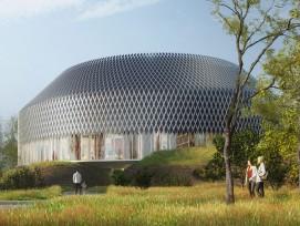 Pavillon auf dem Novartis Campus (Visualisierung)