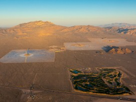 Das Solarwärmekraftwerk aus der Vogelperspektive. (PD)