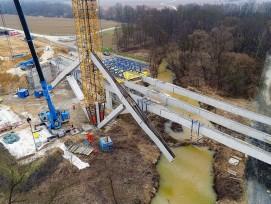 Klappbrücke Fürstenfeld Luftaufnahme vierter Klappvorgang