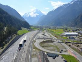 Nordportal Gotthard-Basistunnel in Erstfeld