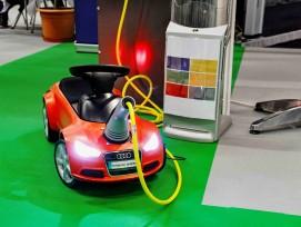 Ladestation Elektrotankstelle Kinderauto
