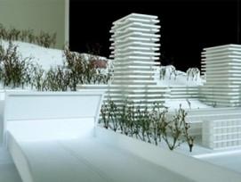 Ursprünglich plante die BVK für 200 Millionen Franken eine Überbauung mit zwei 68 und 56 Meter hohen Hochhäusern, einer Hotelfachschule, einem Dienstleistungsgebäude und einem Hotel. (Bild: pd)