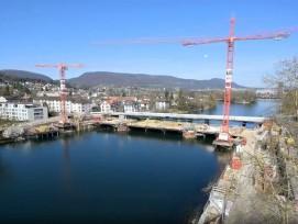 Bau der neuen Aarebrücke