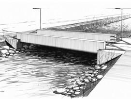 Visualisierung neue Brücke über Sarneraa