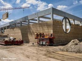 Baustelle Ricola Kräuterzentrum in Laufen