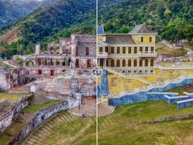 Palast Sans Souci in Haiti Vorher Nachher