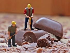 Miniatur-Bauarbeiter