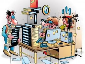 Cartoon Zeitmanagement