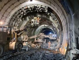 Bauarbeiten Riedbergtunnel
